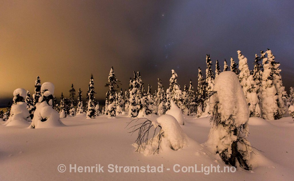 Night, Winter in Trysil, Norway 002
