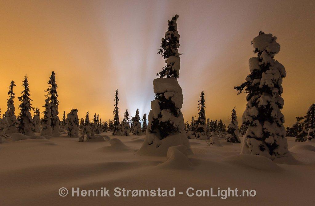 Night, Winter in Trysil, Norway 004